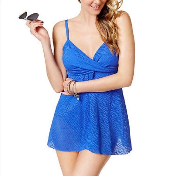 38a105fe3b8 Swim Solutions Swim | Blue Mesh Fly Away Dress | Poshmark